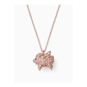 ♠️ Kate Spade Flying Pave Pig Pendant Necklace NWT